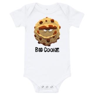 Bad cookie white onsie for babies infants