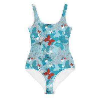 Blue Butterfly Swimsuit bathing suit girls