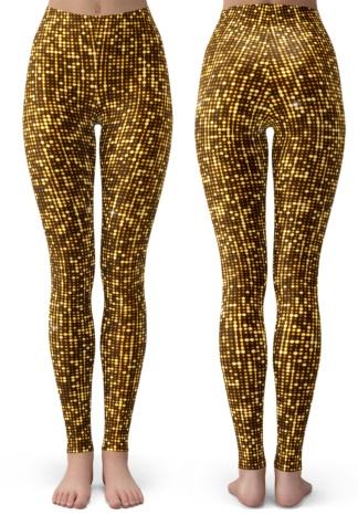 Shimmery Gold Leggings for Kids