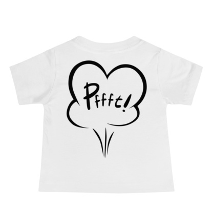Who farted funny rude white T-shirt for babies