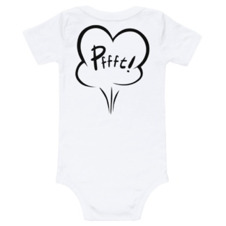 Who farted funny rude white onesie for babies