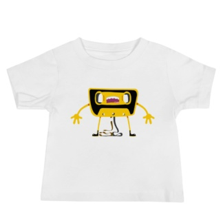 Cassette Tape Unwound white T-shirt for babies