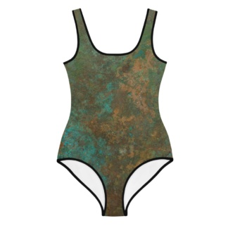Rusty Copper Bathing Suit for Kids / One Piece