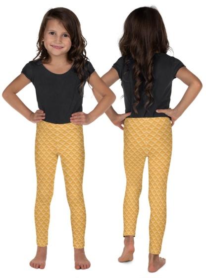 Ice Cream Cake Cone Costume Leggings for Kids