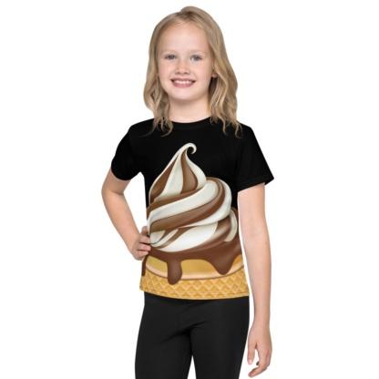 Chocolate Ice Cream Soft Serve Costume T-shirt For Kids / Short Sleeve