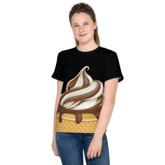 Chocolate Ice Cream Soft Serve Costume T-shirt / Short Sleeve / Youth Sizes