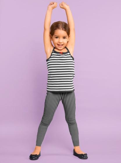Classic Pinstripe Leggings for Kids Children Fashion Designer pinstripe pants