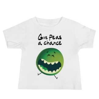 Give peas a chance - anti-vegetable short sleeve t-shirt kids children white baby infant