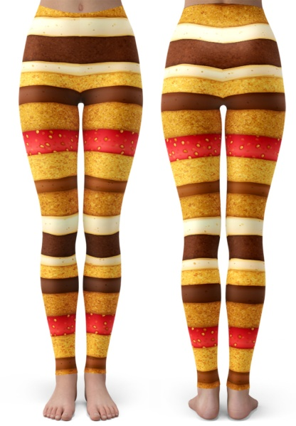 Layered Sponge Cake Costume Leggings / Youth Size