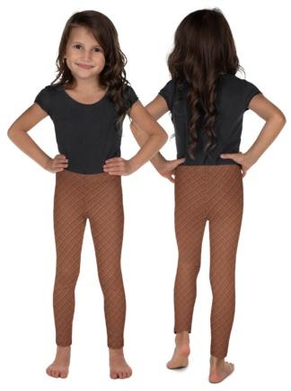Ice Cream Waffle Cone Costume Leggings for Kids