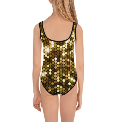 Shiny Gold Bathing Suit for Kids / One Piece