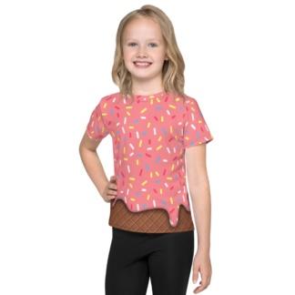 Strawberry Pink Ice Cream Sprinkles Costume T-shirt Kids / Short Sleeve
