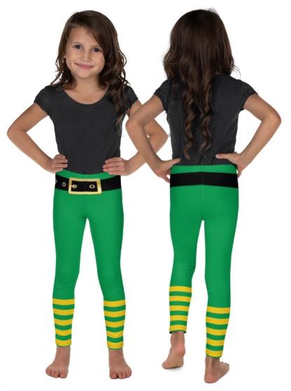 St Patrick's Day Leprechaun Pants Green Leggings for Kids