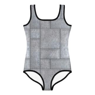 Metal Grill Rivits Designer Bathing Suit for Kids