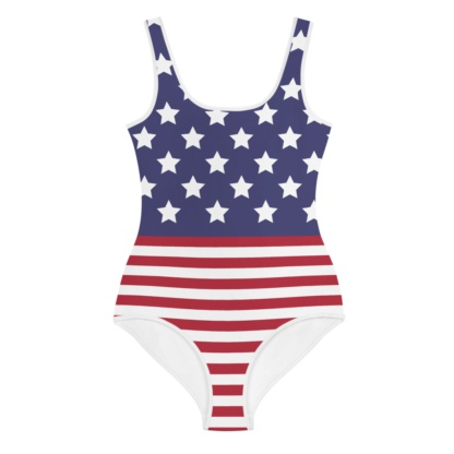 USA American Flag Bathing Suit for Kids / One Piece Swimsuit