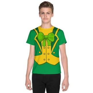 St Patrick's Day Leprechaun Suit T-shirt for Kids / Short Sleeve
