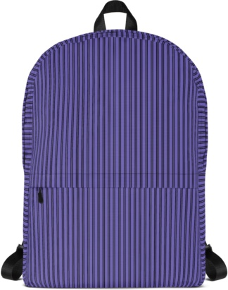 Classic Pinstripe Backpack with Laptop Sleeve