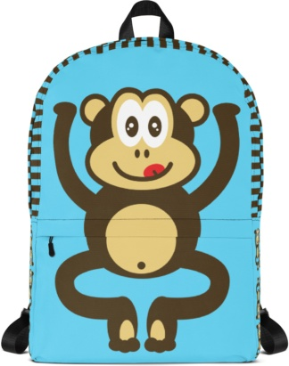 Back to school book bags rug-sack Monkey Backpack with Laptop Sleeve