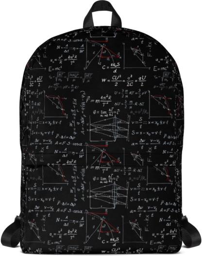 Physics Formula Backpack with Laptop Sleeve