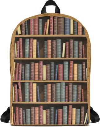 Back to school book bags rug-sack Bookshelf Library Books Backpack with Laptop Sleeve