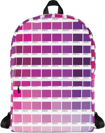 blue pink Color Pantone with Laptop Sleeve Back to school book bag rug-sack