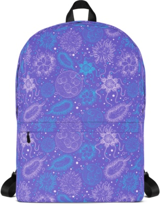 Microbiology Virus Backpack with Laptop Sleeve book bag back to school rug-sack