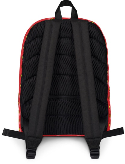 Red seed Strawberry Backpack with Laptop Sleeve