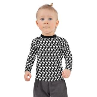 3D Geometric Shape Kids Rash Guard