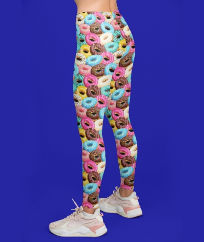 Colorful Donut Leggings / Youth Size
