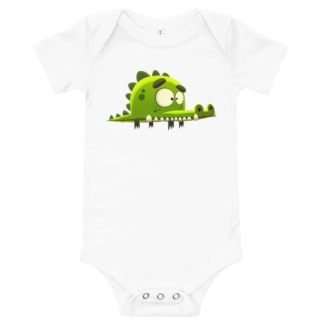 Crocodile T-Shirt For Babies / Short Sleeve onsie