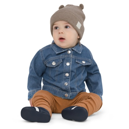 Music Treble Clef Baby Organic Blue Jean Denim Jacket