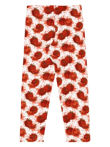 Red Squashed Tomato Leggings for Kids