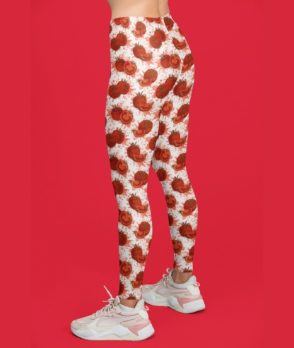 Red Squashed Tomato Leggings / Youth Size