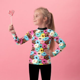 Sweet Tooth Donuts Kids Rash Guard