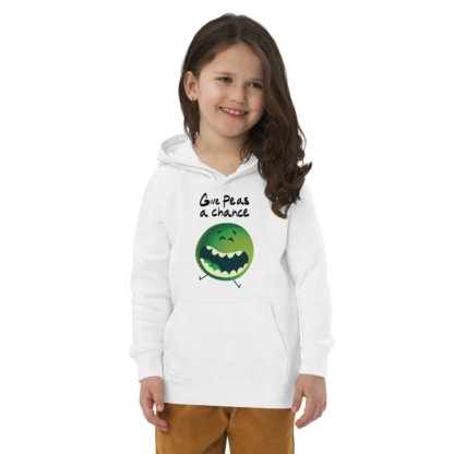 Give Peas A Chance Eco Hoodie for Kids