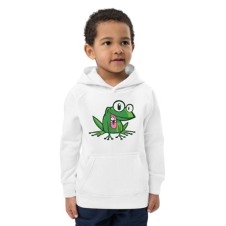 Green Frog Eco Hoodie for Kids