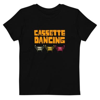 Cassette Tape Dancing T-shirt For Kids / Short Sleeve