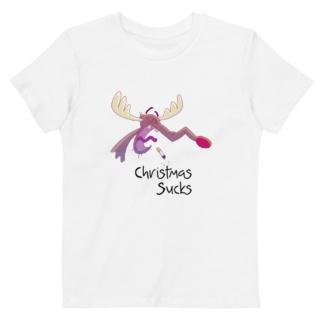 Christmas Sucks T-shirt For Kids / Short Sleeve organic bio