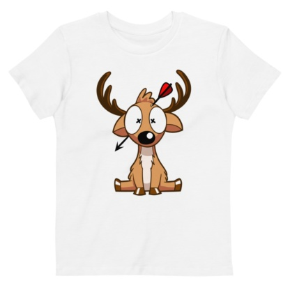 Dead Deer Hunter T-shirt For Kids / Short Sleeve Organic