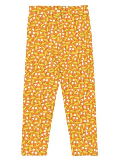 Orange Candy Corn Halloween Leggings for Kids