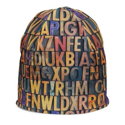 Antique Letterpress Printer Beanie Hat for Kids