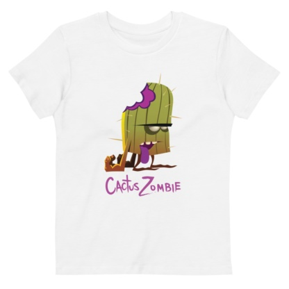 Bitten Cactus Zombie T-shirt Short sleeve kids t-shirt organic bio