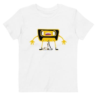 Cassette Unwound Short sleeve kids organic t-shirt
