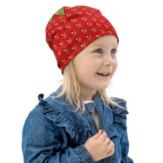 Strawberry Beanie Winter Hat For Kids Halloween Costume