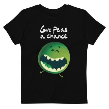 Give peas a chance - anti-vegetable short sleeve organic t-shirt kids children