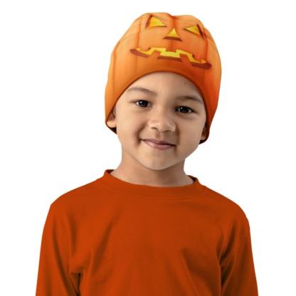 orange pumpkin kids hat