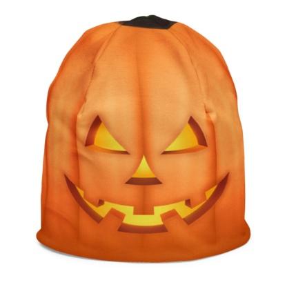 Halloween Orange Pumpkin Kids Beanie Winter Hat Costume