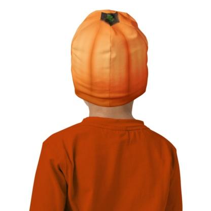 Halloween orange kids hat
