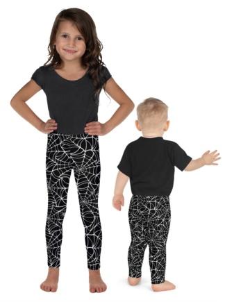 Halloween Spider Web Leggings for Kids