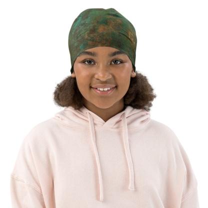Metal Rusty Copper Beanie Hat for Kids